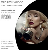 old hollywood glamour party invitation