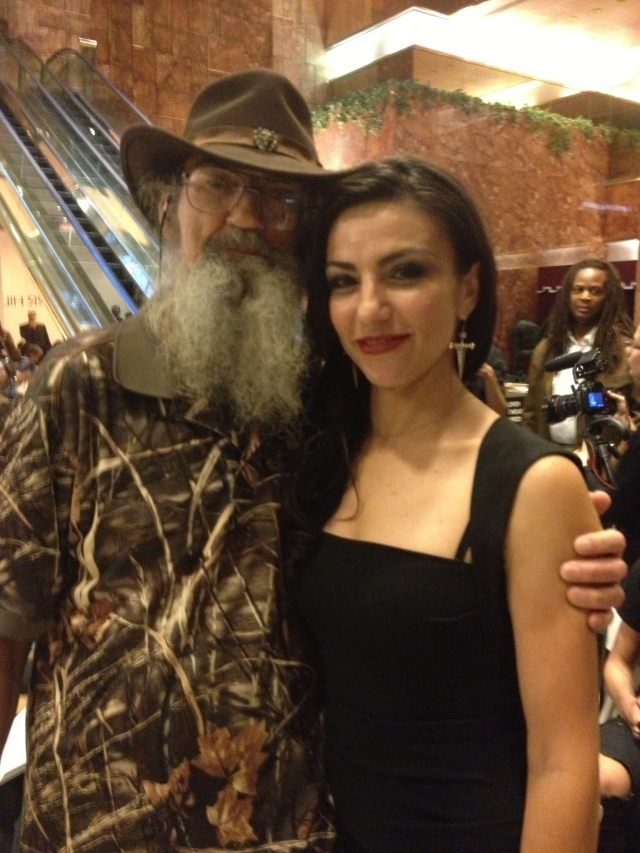 Hasmik with Si the Duck Dynasty reality tv show star
