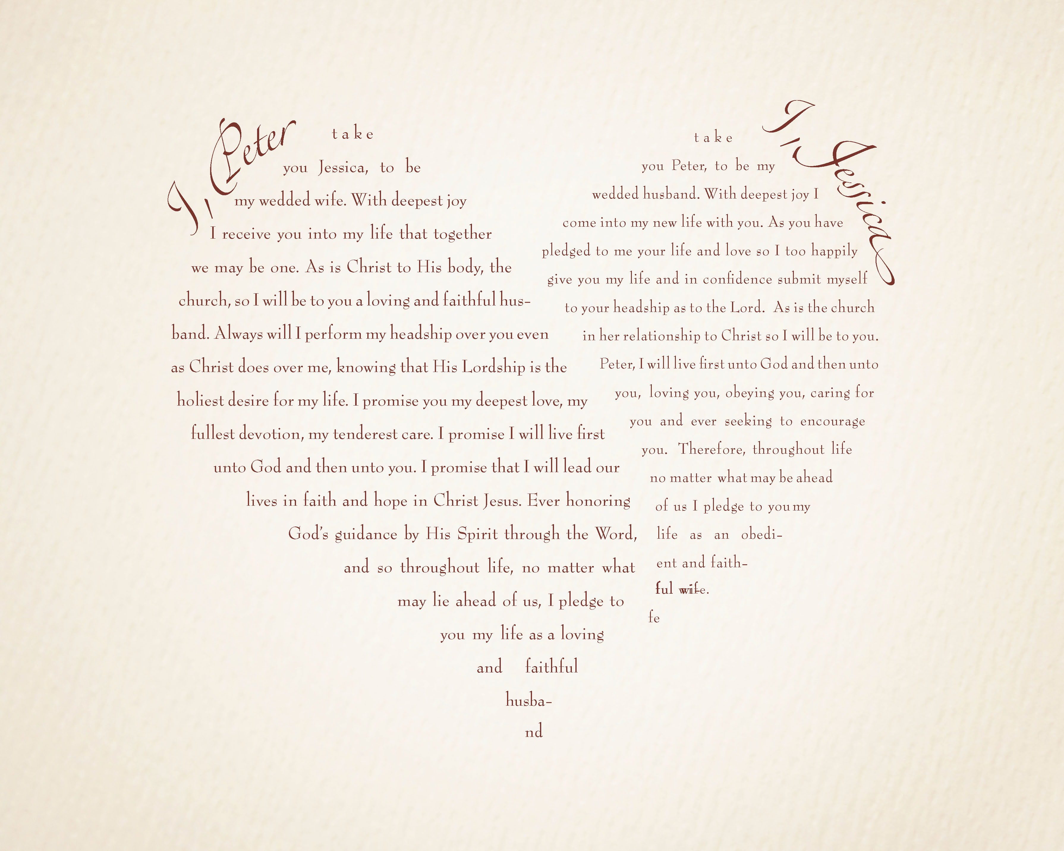 Wedding vow ideas funny 3 flair fashions 3580 2864 in wedding vow ideas junglespirit Image collections